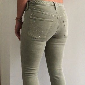Mossimo Supply Co. Jeans - Mossimo jeggings - army green with paint!